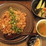 cafe wasugazen  - おかかチャーハンセット