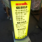 立飲み のんき屋 - 摘みには150円から