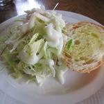 シェ・ホシノ - サラダ、パン