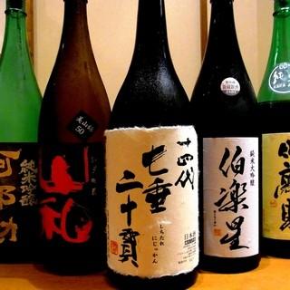 地元、宮城の酒蔵から自慢の銘酒を取り揃え