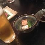 もやい - 2013/10/12 ビールとおひたし