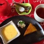 サン・やすらぎ おひさまの部 - 今日はハロウィン! ハロウィン仕様のかぼちゃのケーキとプリン