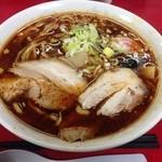 ラーメンつり吉 - トウバンジャンラーメン 大盛 (800円) 太麺