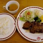 むつの木 - 日替りランチは「牛カットステーキ おろしソース」でした