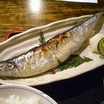 大八 - 「焼魚定食」北海道根室産旬さんま塩焼