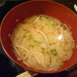 大八 - 「焼魚定食」味噌汁