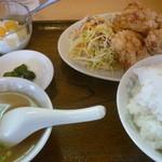 生香楼 - 鶏唐揚げ定食(ご飯大盛)