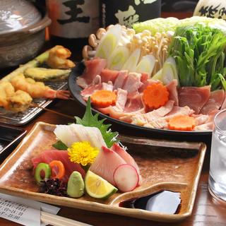 瀬戸の旬な新鮮魚介をお刺身・串揚げでご堪能頂きます!