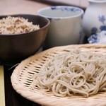 八幡そば - 料理写真:お昼の定食 かやくご飯の組み合わせです。