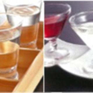 日本酒&ワインきき酒セットあります!