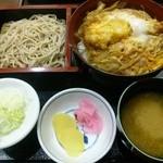 銀座そば所よし田 - 海老玉重セット 1313円
