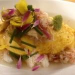 リナトキッチン - 蟹と有機葱の和風オムライス