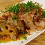 リナトキッチン - 泥レンコンステーキ