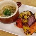 リナトキッチン - 有機野菜のグリル 牡蠣のオイル煮