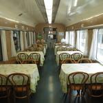 交通科学博物館 食堂車 - 雰囲気ある食堂車