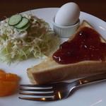 珈琲家 - 料理写真:「ジャムトーストモーニングセット」アップ