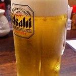 ふくろう - ビールはアサヒ