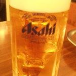 ホルモン俵屋 - 生ビール500円