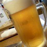 鴨ん家 - ドリンク写真:まずは生ビールで