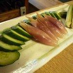 鴨ん家 - 自家製漬物(おくら、きゅうり、茗荷)