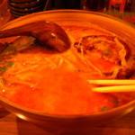 Ramensennokaze - ピリ辛味噌。ある程度食べてから気が付いて撮りました・・・
