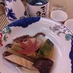 22231912 - 山菜炊き合わせ(冷やし)筍、蕗、蕨、蒟蒻、南瓜