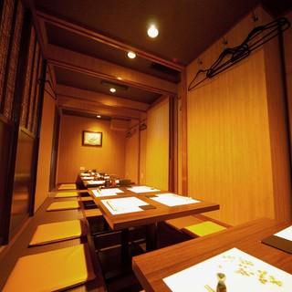 ゆったり個室で和食を楽しむ