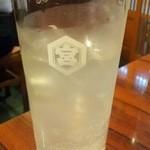 岩亀 - レモンサワー(350円)