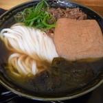 瀬戸内製麺710 - ひやあつ肉きつねうどん(H25.10.31)