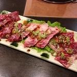 福七輪 - 131101 牛肉三点盛 ハラミ・カルビ・ロース