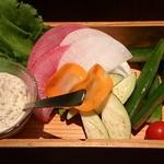 虎之介 - フレッシュ野菜 きのこソース
