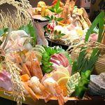 雑穀 - 料理写真:豪華舟盛り付きの選べるお鍋コースは5250円!