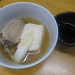 玉川屋酒店 - 手羽湯豆腐:350円(驚くことにポン酢付きです)