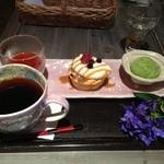 ふくじゅえん - コーヒーと3種盛りセット♡