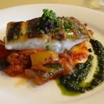 22244968 - シェフのおまかせ魚(スズキ)料理