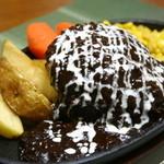 ハンバーグレストラン まつもと - 料理写真:ハンバーグステーキ【特製ブラックデミグラスソース】