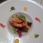 和・ダイニング 北の夢祥 - 福岡産天然鯛のポワレ ジェノベーゼと卵黄のソース