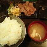 牛や - 牛タン塩焼き定食 ライス大盛り(980円)