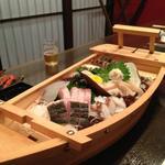 三船亭 - お刺身舟盛り