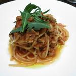 marunouchi cafe 倶楽部21号館 - プリモ 鮪のラグーソースのスパゲッティ