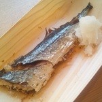 築地食堂 源ちゃん - お通しゎ秋刀魚の塩焼き♪