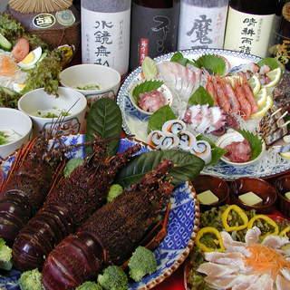 瀬戸内の魚や伊勢海老など、鮮度抜群!