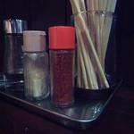 藤堂 - カウンター上の調味料