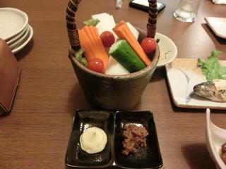 酒讃家 - 角館の安藤醸造元の味噌を使った、野菜スティック