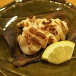すし六法 - タチ(真鱈の白子)の松前焼き