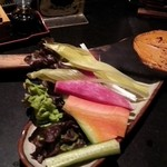 月の音 - スティック野菜のうに味噌添え(@630)(13.3)