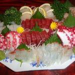 ひよし - 料理写真:八人様¥4320コース(7品) 鮪赤身 たこ いか 真鯛 ぼたんエビ 何処から箸をつけましょうか?