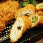 新宿さぼてん - チキンの梅しそ巻きかつ(選べる人気の定番かつ定食)