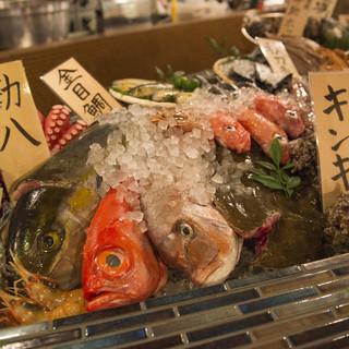 日替わり鮮魚のお刺身がうまい!