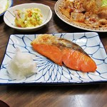 ますだや - 焼き魚定食セットの鮭